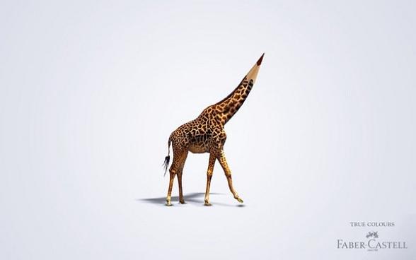 Girafa PlayfulTrueColoursAdvertisingCampaignbyFaberCastell4